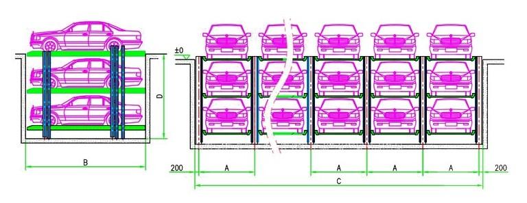 大楼立体结构图